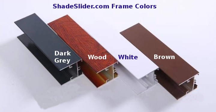 ShadeSlider for bottom-up windows and skylights - frame colors